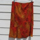 Fashion Bug Skirt Large 32 Waist Orange 2 Layer