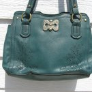 Mariposa Dark Green Purse Handbag 3 Compartment
