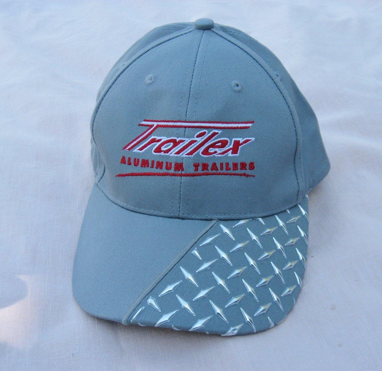 Gray Trailex Aluminum Trailer Baseball Cap Adjustable Advertising