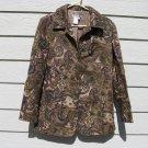 Coldwater Creek Blazer Jacket M Medium 41 Chest Paisley Tan