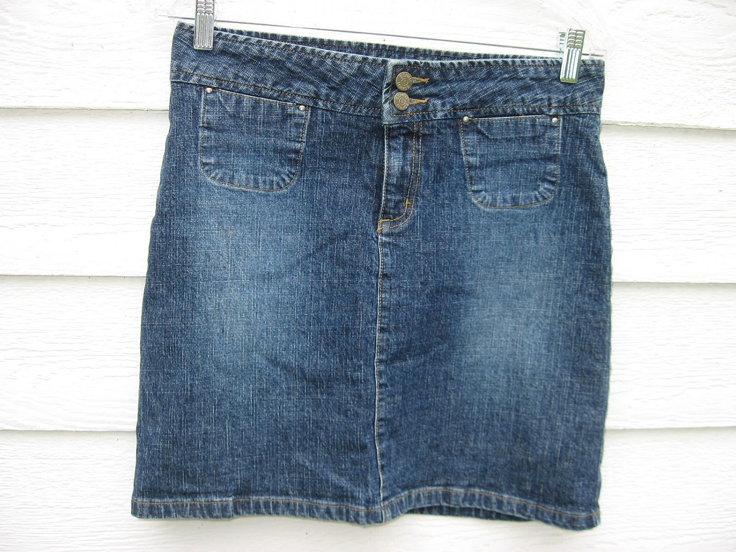 Esprit Denim Skirt 5/6 31 Waist Blue Jean Mini