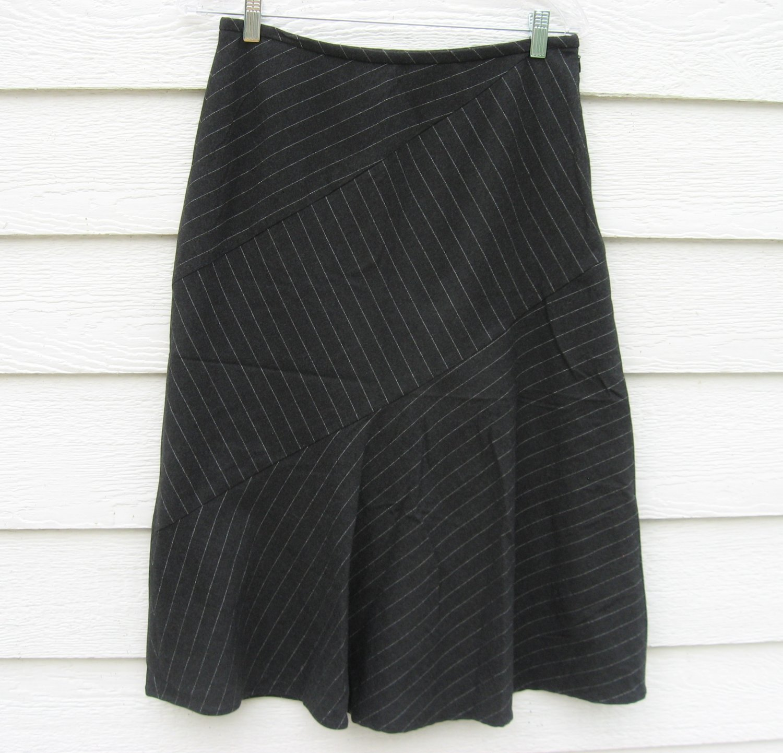 Josephine Chause Black Skirt 4 30 Waist Silver Strip