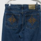 Jordache Blue Jeans 11/12 32x32 Embroidered Denim