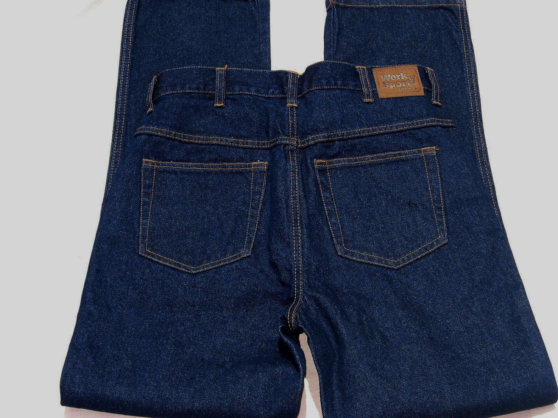 Work n Sport Jeans 32x32 Actual 34x32 EUC Dark Denim Work