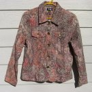 Analogy Texture Blazer 38 Chest Petite Tapestry Button Down Coat Jacket