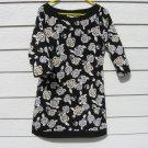 Black White Rose Dress Medium 36 Chest White House Black Market Knit Silky