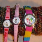 3 Watches Mickey Mouse Minnie Disney Working Lorus