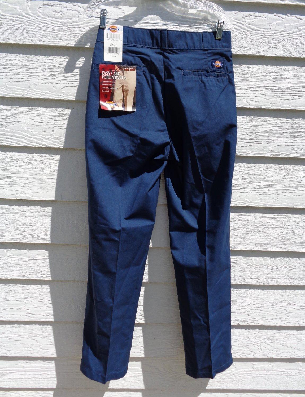 Dickies Navy Blue Work Pants NWT 30x32 Poplin Easy Care Men
