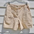 Talbots Petite Shorts 10 31 Waist Yellow Denim Twill Mini Snap Pocket