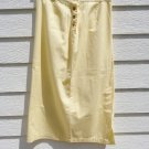 Christopher & Banks Light Yellow Maxi Skirt 10 32 Waist 33 Length