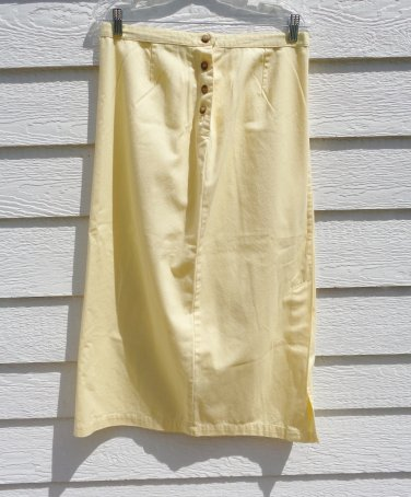 Christopher & Banks Light Yellow Maxi Skirt 10 32 Waist 33 Length