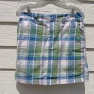 Sonoma Blue Green Plaid Skorts 4 31 Waist Skirt Shorts
