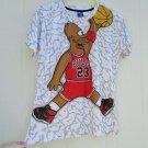 Mr & Miss 1991Inc Homer Simpson Basketball T Shirt Top Large 38 Chest 23 Bulls