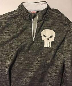 Punisher Mad Engine Marvel Long Sleeve Gray Shirt Size L Brand New