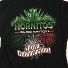 Hornitos 100% Puro Agave Tequila Black T-Shirt Women's XL New