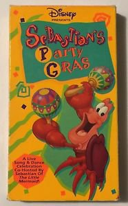Sebastians Party Gras (VHS, 1992) Little Mermaid Disney