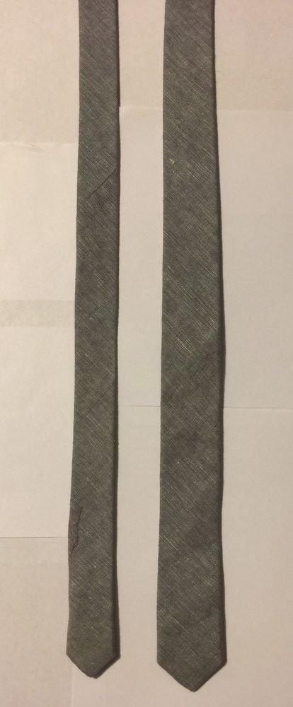 H&M Gray Necktie Skinny