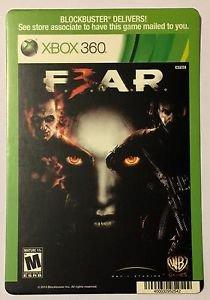 Xbox 360 Fear 3 Blockbuster Artwork Display Card