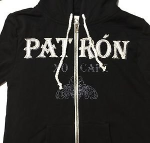 Patron Tequila XO Cafe Black Hoodie Ladies Small