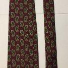 Brooks Brothers Paisley Print Multicolored Silk Necktie Tie