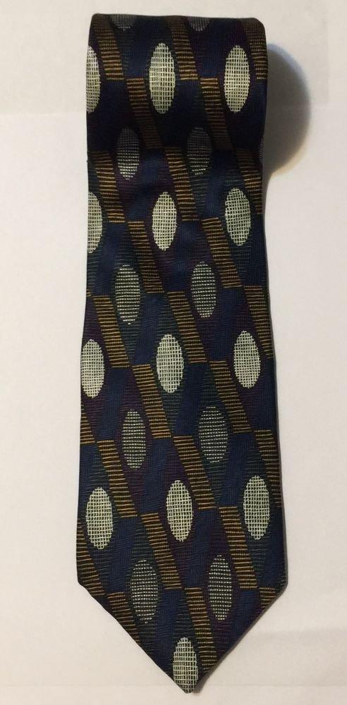 Albert Nipon Multicolor Silk Necktie Tie