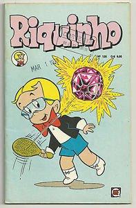 Riquinho #125 October 1977 Brazilian Richie Rich Edition Comic Jewel Paddle Ball