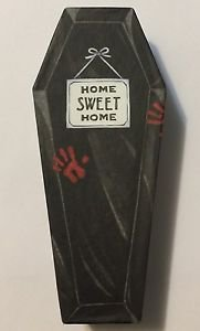 Mary Jo Hull Carboard Dracula Coffin Vampire Home Sweet Home