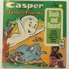 Casper The Friendly Ghost Jungle Friends Book and 45 RPM Record 1970