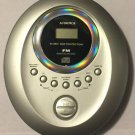 Audiovox DM8210-45 Personal Portable CD Player With FM Digital Radio 45 Sec Skip