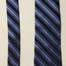 Stafford Blue Striped Tailored Culture Silk Necktie Tie