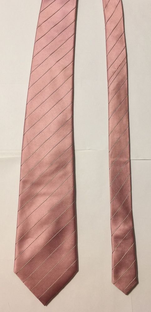 Donald J Trump Signature Collection Pink Striped Silk Necktie Tie