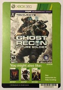 Xbox 360 Ghost Recon Future Soldier Blockbuster Artwork Display Card
