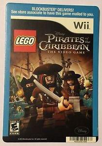 Nintendo Wii Pirates of the Caribbean Lego Blockbuster Artwork Display Card