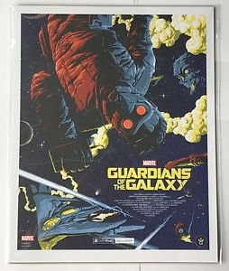 Guardians of the a Galaxy Geek Fuel Exclusive Marvel Print With COA