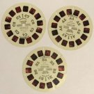 Treasure Island Viewmaster Reel Set of 3 A B and C