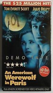 An American Werewolf In Paris Promotional Demo Screener VHS Tape