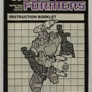 Transformers Evil Insecticon Bombshell Instruction Booklet 1984 Hasbro