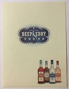 Austin's Original Deep Eddy Vodka Folder Pin-Up Girls