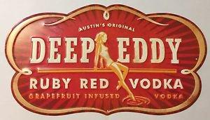 Austin's Original Deep Eddy Ruby Red Vodka Grapefruit Infused Tin Metal Sign