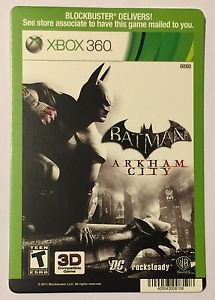 Xbox 360 Batman Arkham City Blockbuster Artwork Display Card