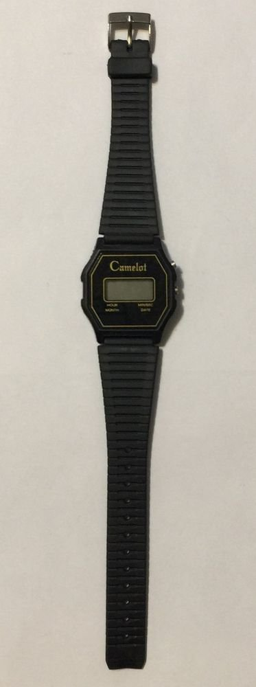 Camelot Black Digital Wrist Watch
