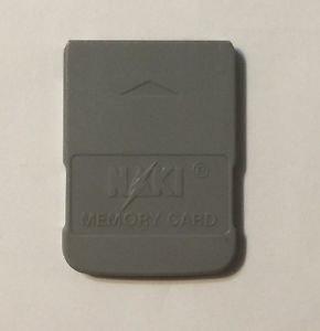 Naki Sony Playstation 1 Gray Memory Card