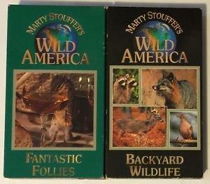 Marty Stouffer's Wild America Lot of 2 Backyard Wildlife and Fantastic Follies
