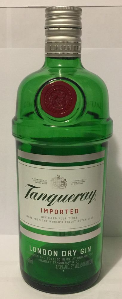 Tanqueray Imported London Dry Gin 750 ML Empty Bottles