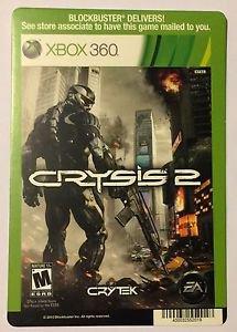 Xbox 360 Crysis 2 Blockbuster Artwork Display Card