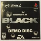 Black (Sony Playstation 2, 2006) Demo Video Game