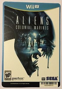 Nintendo Wii Aliens Colonial Marines Blockbuster Artwork Display Card