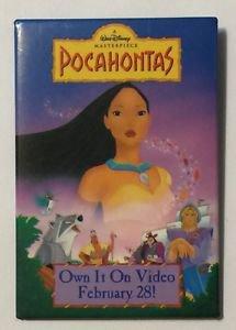 Pocahontas Pinback Button VHS Promo Walt Disney