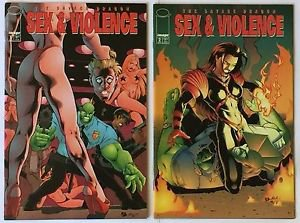 Savage Dragon Sex & Violence Complete 2 Issue Mini-Series 1 2 (Image Comics)
