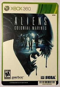Xbox 360 Aliens Colonial Marines Blockbuster Artwork Display Card